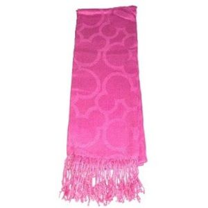 Disney Mickey Mouse French Rose Pink Scarf